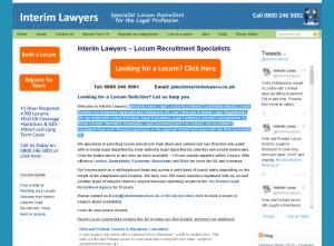 Interim Lawyers Legal Recruitment