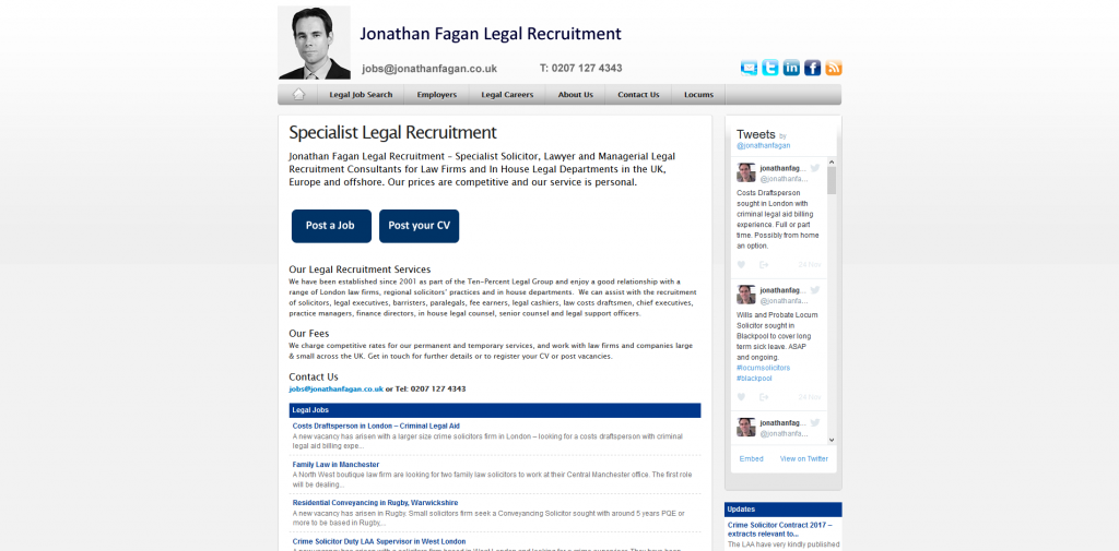 Jonathan Fagan Legal Recruitment