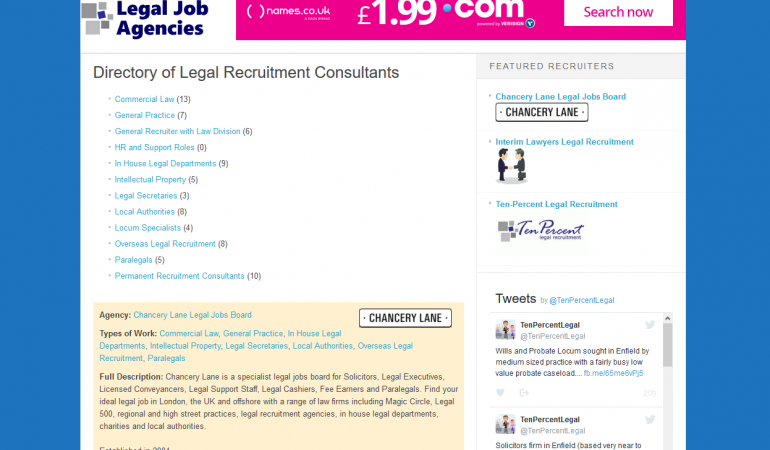 Legal Recruitment Agency Directory