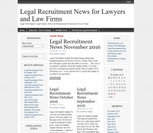 Legal Recruitment News