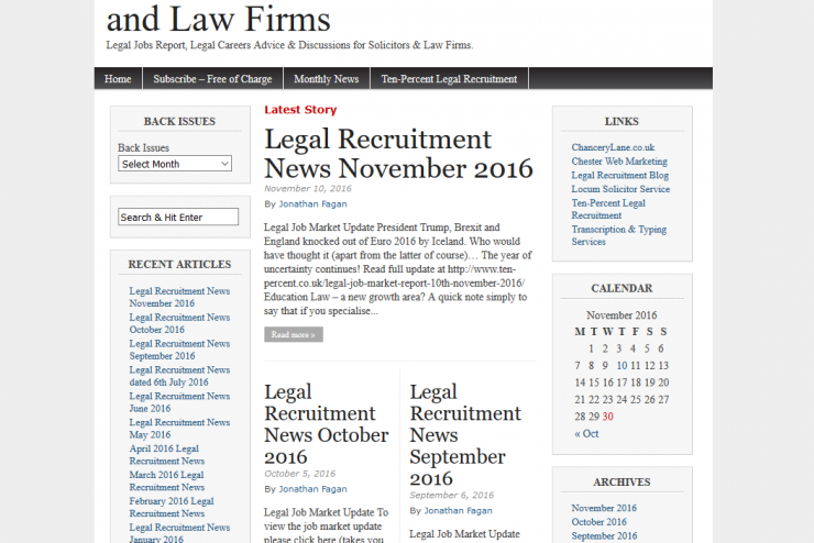 Legal Recruitment News