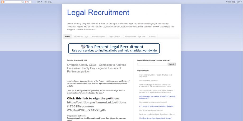 Legal Recruitment Blog