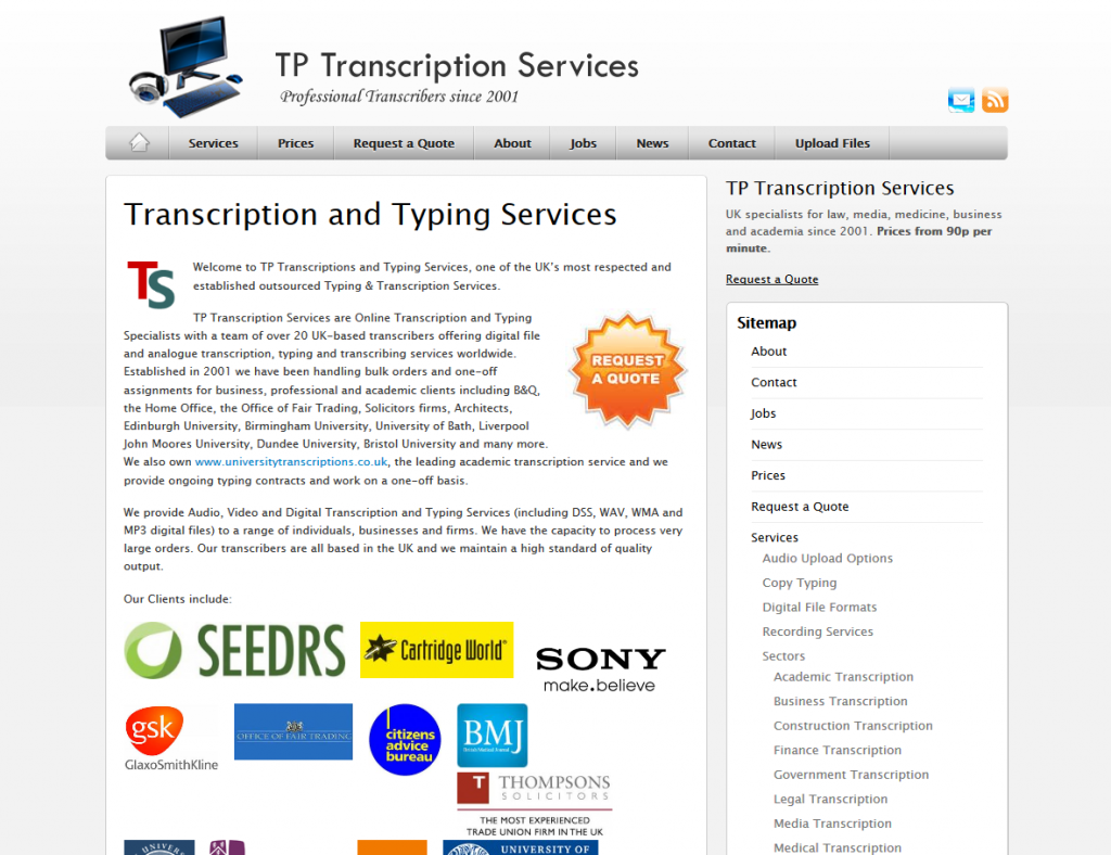 TP Transcription Limited