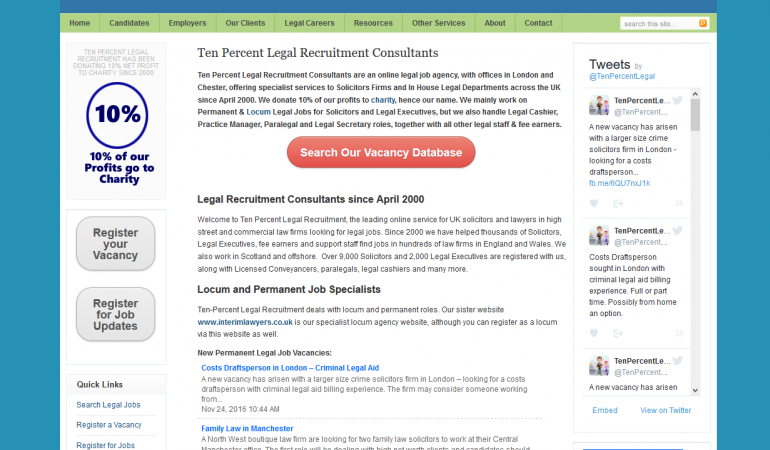 Ten Percent Legal Recruitment
