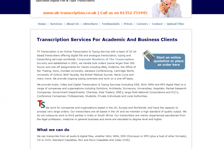UK Transcription Services