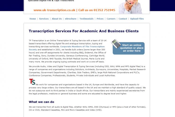UK Transcription Services