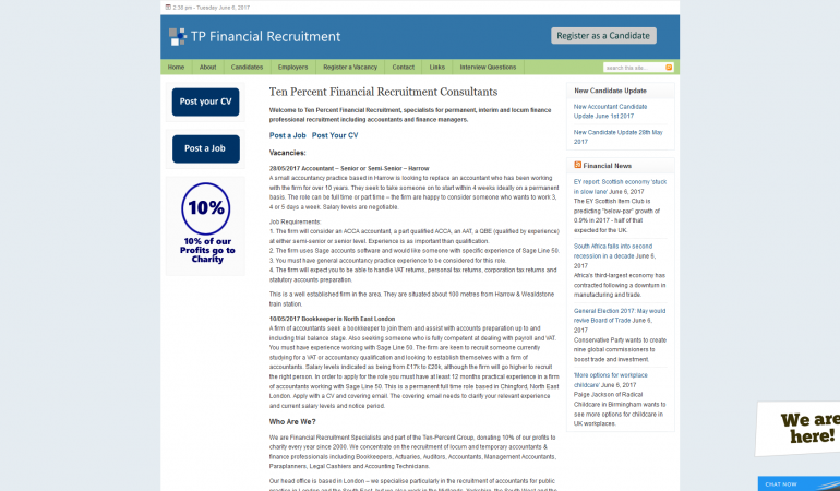 Ten Percent Financial Recruitment